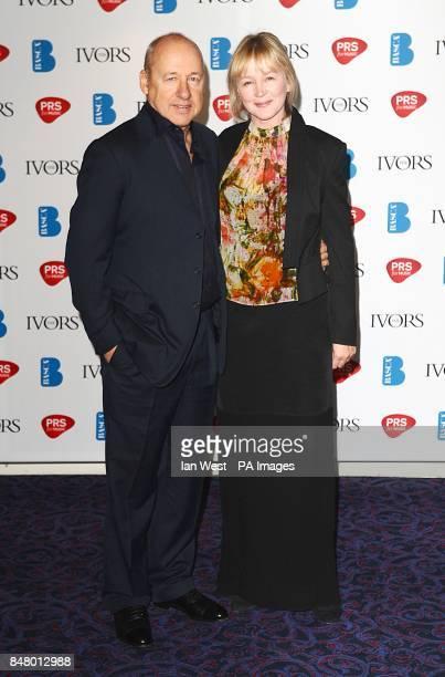 Mark Knopfler and wife Kitty Aldridge at the 2012 Ivor Novello awards held at the Grosvenor House Hotel, London