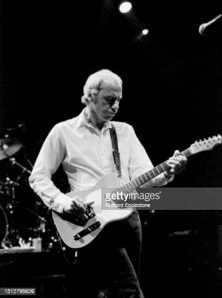 Mark Knopfler, British singer-songwriter, guitarist, and record producer performs a solo show at Cambridge Corn Exchange, 13th May 1996.