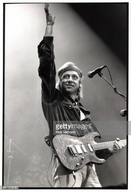Mark Knopfler from Dire Straits performs live at Feijenoord Stadium De Kuip Rotterdam in Holland on May 29 1992