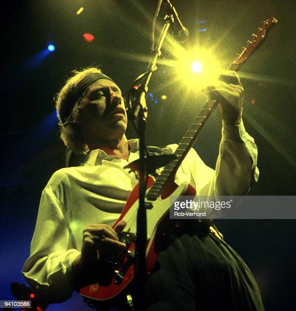 Mark Knopfler from Dire Straits performs live on stage at Ahoy Rotterdam Holland on September 28 1991