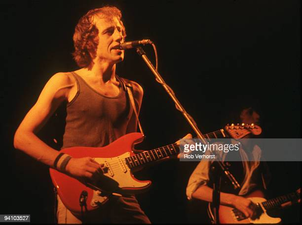 Mark Knopfler from Dire Straits performs live on stage at Schouwburg Rotterdam Holland on October 19 1978