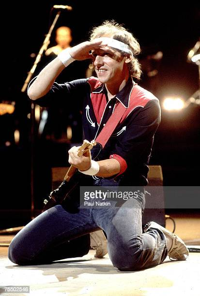Mark Knopfler of Dire Straits on 8/3/85 in ChicagoIl in Various Locations