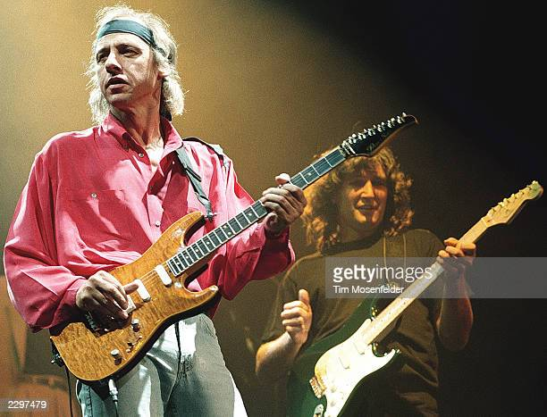 Mark Knopfler of Dire Straits performing at the Oakland Colusium in Oakland Calif on Feb 2nd 1992 Image By Tim Mosenfelder/ImageDirect