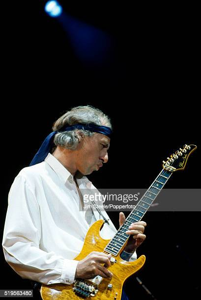 Mark Knopfler of Dire Straits performing on stage at the Wembley Arena in London on the 16th September 1991