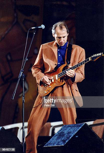 Mark Knopfler of Dire Straits performs on stage at The Silver Clef Award Winners Concert 'Knebworth '90' on June 30th 1990 in Knebworth United Kingdom
