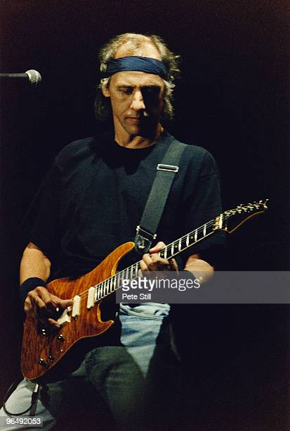 Mark Knopfler of Dire Straits performs on stage on the 'On Every Street' tour at Woburn Abbey on June 20th 1992 in Woburn United Kingdom