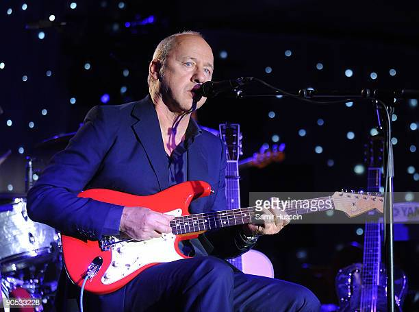 Mark Knopfler performs in aid of The Prince's Trust at the Hurlingham Club on September 9 2009 in London England