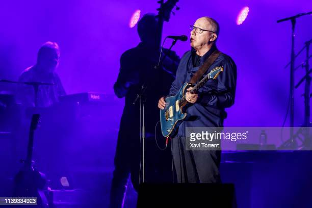 Mark Knopfler performs in concert at Palau Sant Jordi on April 25 2019 in Barcelona Spain