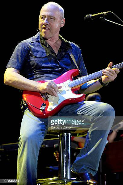 Mark Knopfler performs on stage in Arena Santa Giuliana during day four of Umbria Jazz on July 12, 2010 in Perugia, Italy.