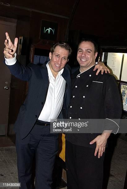 Mark Kostabi and Chef Ian Russo of Ian during Mark Kostabi Sighting at Ian Restaurant in New York May 31 2006 at Ian Restaurant in New York City New...