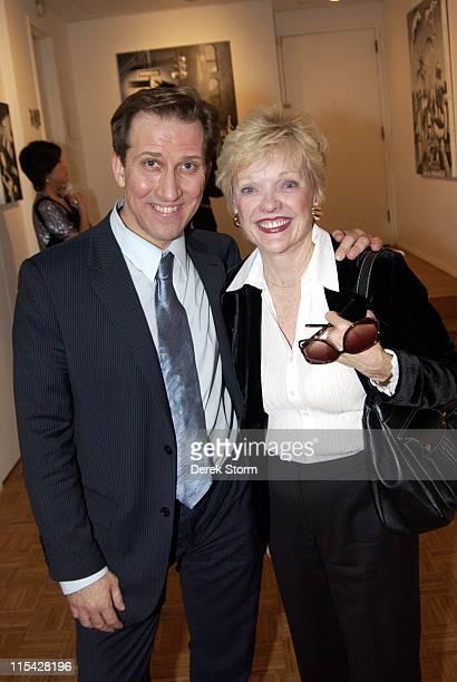 Mark Kostabi and Molly Barnes during Mark Kostabi Opening Reception at Adam Baumgold Gallery at Adam Baumgold Gallery in New York City New York...