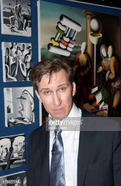 Mark Kostabi during Mark Kostabi Tapes Name That Painting Game Show with Guest Contestant Randy Jones at Kostabi World at SoHo in New York City New...