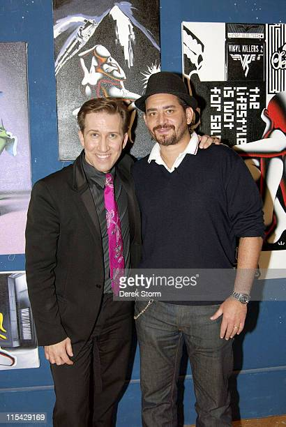 Mark Kostabi Riad Nasr of Balthazar during Mark Kostabi on Location for Name That Painting at Kostabi World in SOHO May 19 2006 at Kostabi World in...