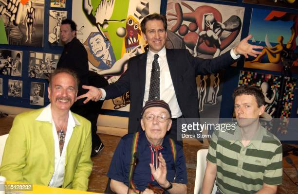 Mark Kostabi with his contestants Mark Bego Taylor Mead and Michel Gondry
