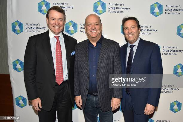 Mark Kravietz Scott Padell and Kevin Kaplan attend the Alzheimer's Drug Discovery Foundation's Memories Matter at Pier 60 Chelsea Piers on April 10...