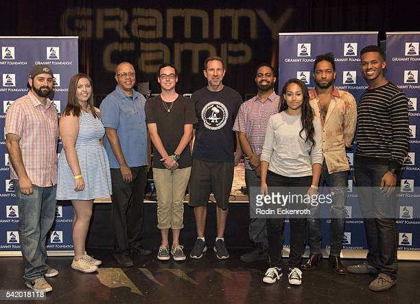 Mark Kudsi David R Sears Paul Steward Jason RE Sears and Brian London with campers at the GRAMMY Foundation's 12th Annual GRAMMY Camp at the...