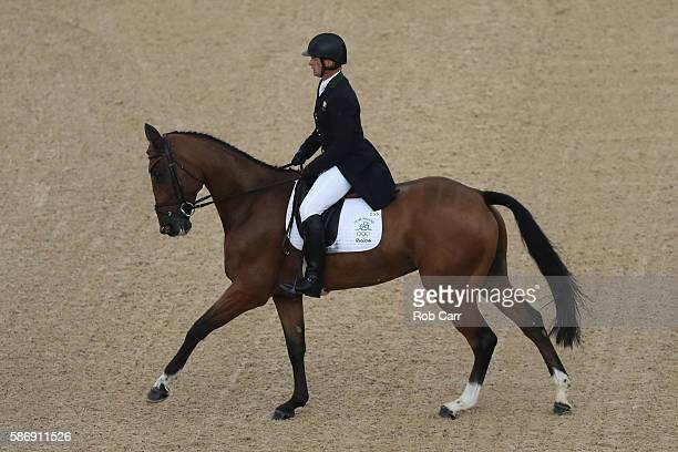 Mark Kyle of Ireland riding Jemilla competes in the Eventing Team Dressage event during equestrian on Day 2 of the Rio 2016 Olympic Games at the...