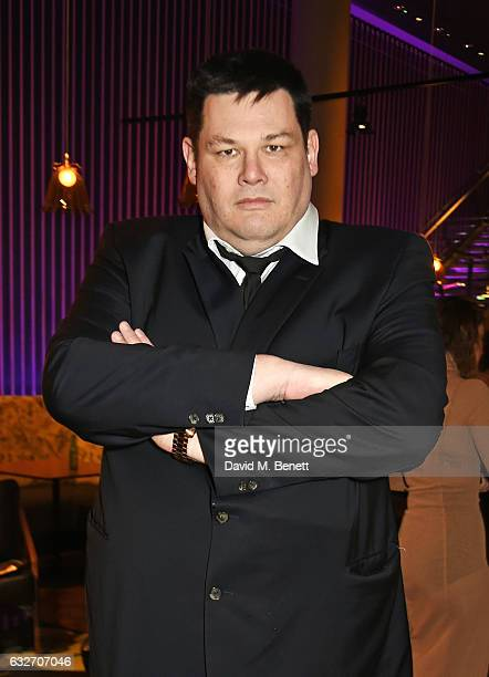 Mark Labbett aka The Beast attends the National Television Awards cocktail reception at The O2 Arena on January 25 2017 in London England