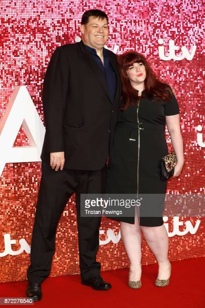 Mark Labbett and Jenny Ryan arriving at the ITV Gala held at the London Palladium on November 9 2017 in London England