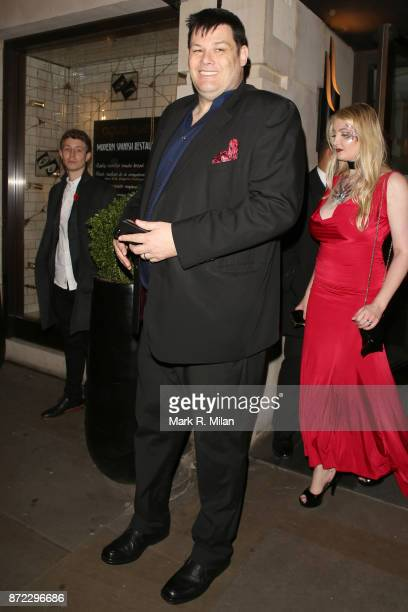 Mark Labbett attending the ITV Gala afterparty at Aqua on November 9 2017 in London England