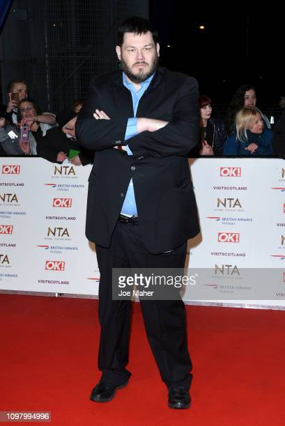Mark Labbett attends the National Television Awards held at The O2 Arena on January 22 2019 in London England