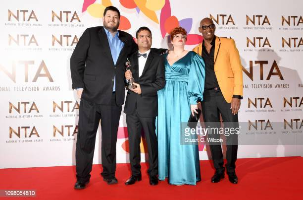 Mark Labbett Paul Sinha Jenny Ryan and Shaun Wallace with the award for Quiz Show for The Chase during the National Television Awards held at The O2...