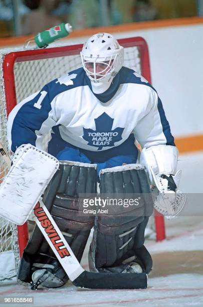Mark LaForest of the Toronto Maple Leafs skates against the Buffalo Sabres during NHL preseason game action on September 30 1989 at Maple Leaf...