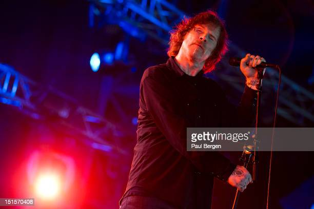 Mark Lanegan performs on stage, Lowlands festival, Biddinghuizen, Netherlands, 19 August 2012.