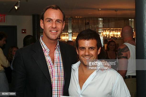 Mark Langrish and Amedeo Scognamiglio attend KiptonART presents art reception for Photographer Shuli Hallak's CARGO at Soho House on July 17 2006 in...