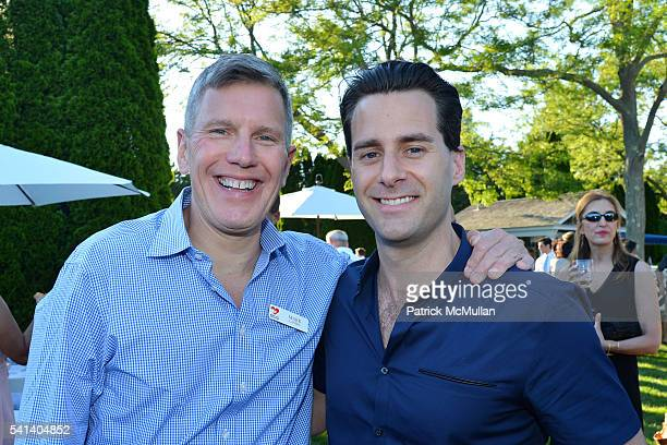 Mark Lanspa and Tim Brunner attend The Sixteenth Annual Midsummer Night Drinks Benefiting God's Love We Deliver at Private Residence on June 18 2016...