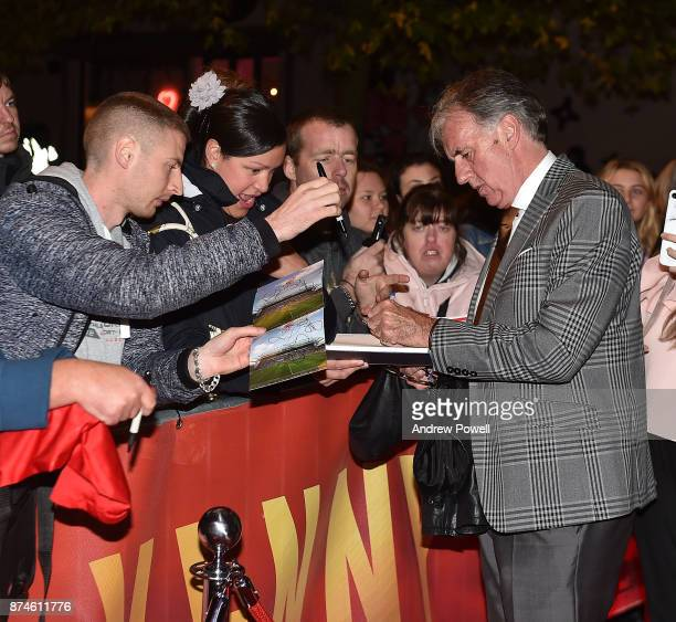 Mark Lawrenson arrives at the 'Kenny' film premiere at the FACT cinema on November 15 2017 in Liverpool England