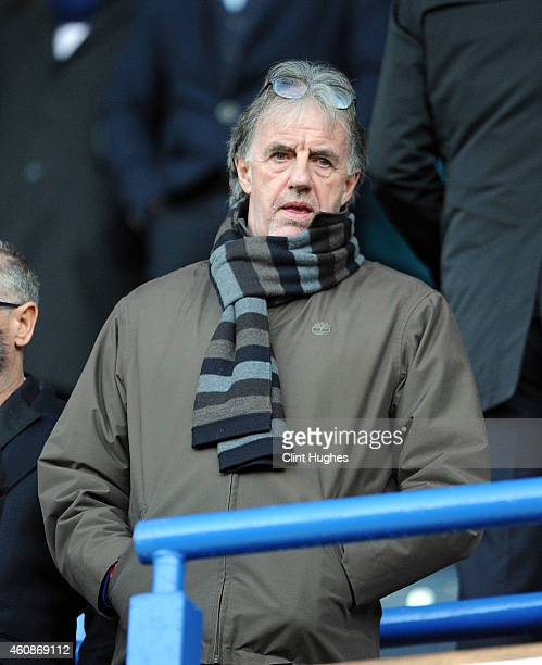 Mark Lawrenson in the stands during the Sky Bet Championship match between Blackburn Rovers and Middlesbrough at Ewood Park on December 28 2014 in...
