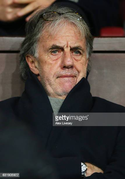 Mark Lawrenson looks on from the stands during the Emirates FA Cup third round replay between Burnley and Sunderland at Turf Moor on January 17 2017...