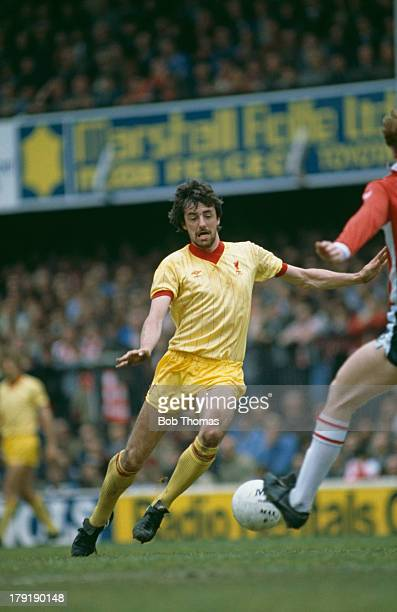 Mark Lawrenson of Liverpool FC in a Football League Division One match against Southampton FC which Liverpool went on to win 3 2 24th April 1982