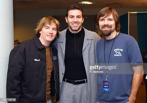 Mark Lee Kurt Warner and Mac Powell during The 34th Annual Dove Awards Backstage at The Gaylord Center in Nashville Tennessee United States