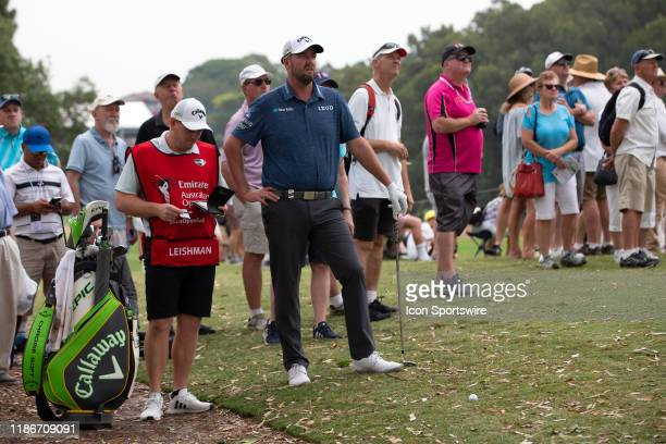 Mark Leishman looks at the green from the rough during round 2 of The Australian Open Golf at The Australian Golf Club on December 06 2019 in Sydney...