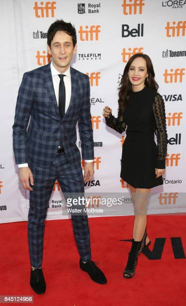 Mark Leslie Ford and Ksenia Solo attend the 'Suburbicon' premiere during the 2017 Toronto International Film Festival at Princess of Wales Theatre on...