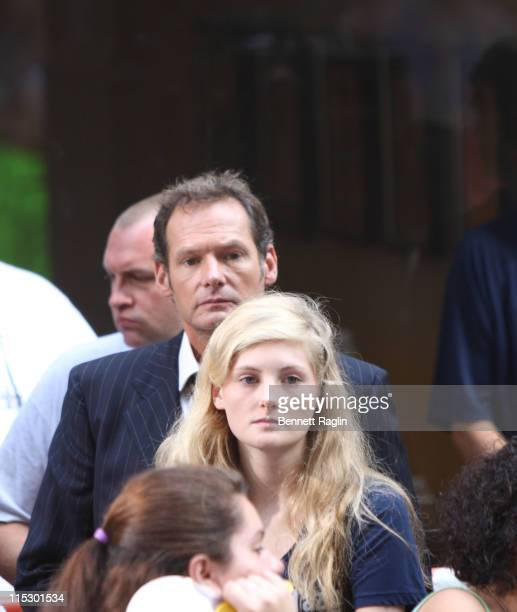 Mark Lester and daughter Harriet Lester attend NBC's Today at Rockefeller Center on August 21 2009 in New York City