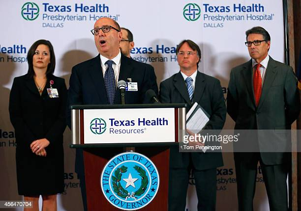 Mark Lester Texas Health Resources executive vice president and Southeast Zone clinical leader answers questions related to the first confirmed case...