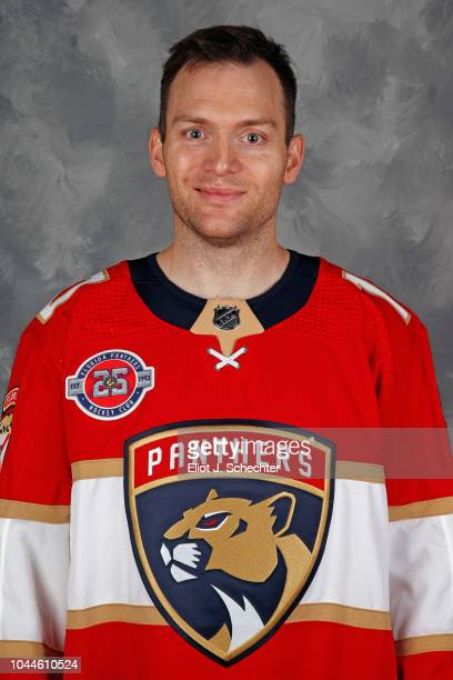 Mark Letestu of the Florida Panthers poses for his official headshot for the 20182019 season on September 13 2018 at the BBT Center in Sunrise Florida