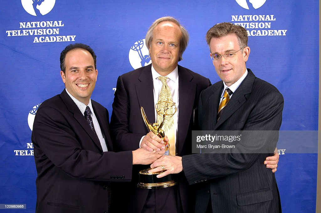 Mark Levy, Dick Ebersol and Brian Brown during 26th Annual Sports Emmy Awards - Press Room at Frederick P. Rose Hall at Jazz at Lincoln Center in New York City, New York, United States.