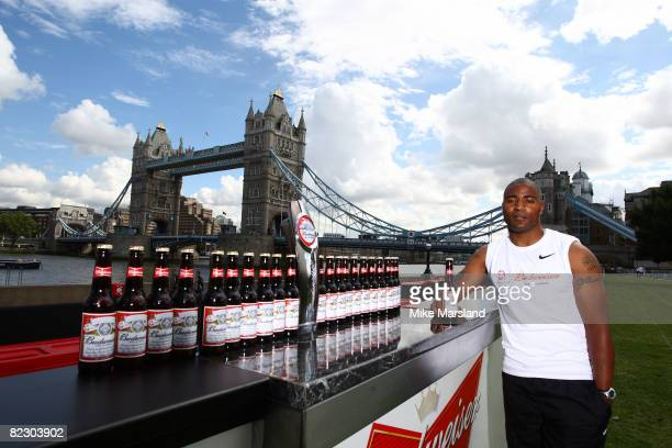 Mark LewisFrancis and Budweiser official international beer sponsor of the 2008 Olympic Games in Beijing unveil a 100m long bar next to London's...