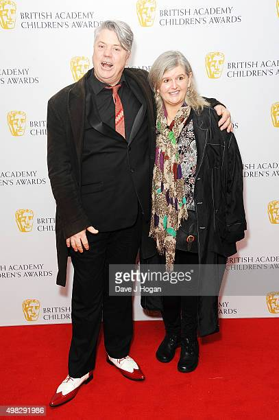 Mark Little and Cathryn Farr attend the British Academy Children's Awards at The Roundhouse on November 22 2015 in London England