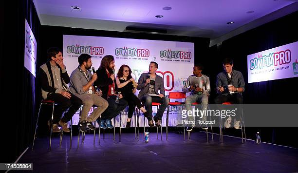 Mark Little Barry Rothbart Dan StGermain Emily Heller Peter Debruge Brent Morin Spoken Reasons and Nick Kocher attends the Variety 10 Comics To Watch...