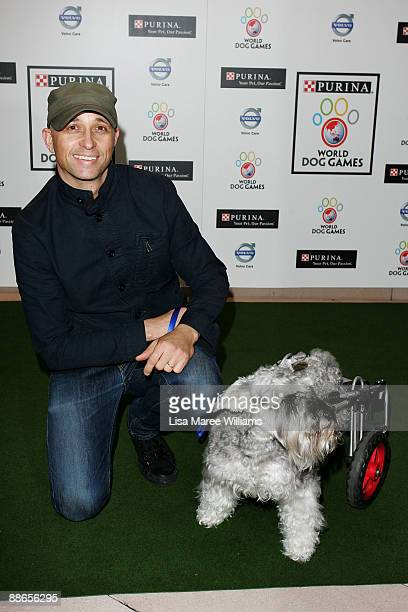 Mark Lizotte attends the launch of The Purina World Dog Games at Centennial Park Dining on June 24 2009 in Sydney Australia