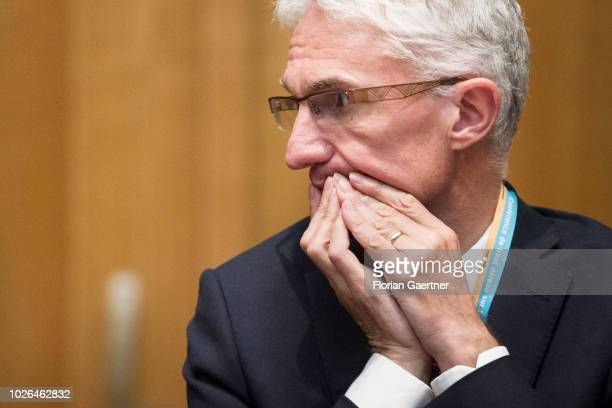 Mark Lowcock Head of the United Nations Office for the Coordination of Humanitarian Affairs is pictured on September 03 2018 in Berlin Germany