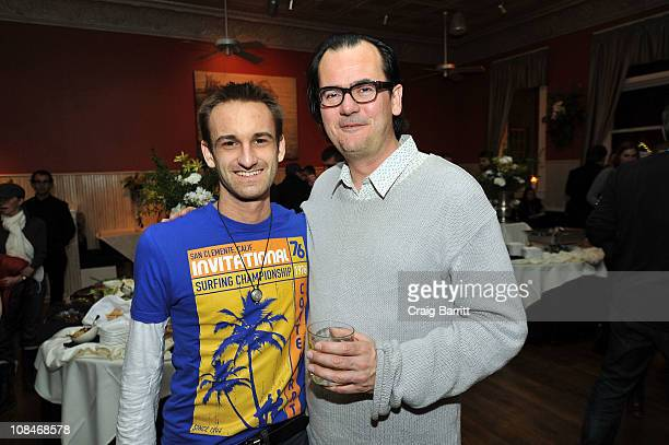 Mark Mackovic and editor Joe Walker attend the Life In A Day premiere after party on January 27 2011 in Park City Utah