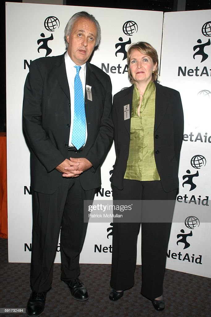 Mark Malloch Brown and Kim Hamilton attend NetAid 2005 Global Action Awards at Jazz at Lincoln Center on November 9, 2005 in New York City.