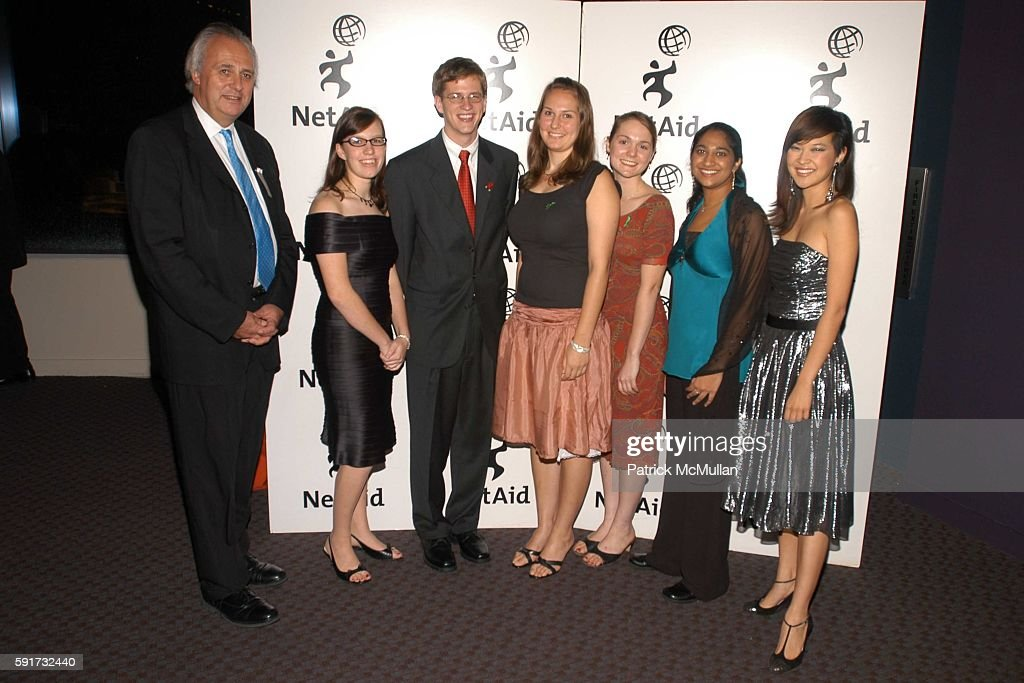Mark Malloch Brown, Katie Reed, Rob Stephens, Annalise Blum, Katherine Kendrick, Mihiri Tillakaratne and SuChin Pak attend NetAid 2005 Global Action Awards at Jazz at Lincoln Center on November 9, 2005 in New York City.