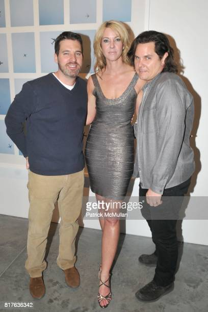 Mark Mann Sarah Hasted and Kent Belden attend Artist's Reception with NATHAN HARGER at Hasted Kraeutler on December 9th 2010 in New York City